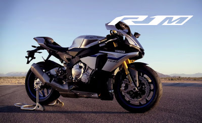 2016 Yamaha YZF R1 & YZF R1M reacing bike.