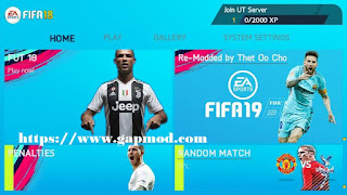 FIFA 2018 Mod 2019 by Pika Re-modded by Thet Oo Cho Apk Data Obb
