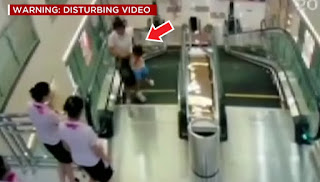 A screenshot from the CCTV footage from the mall.