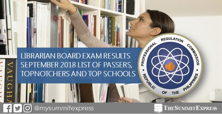 September 2018 Librarian board exam list of passers, top 10