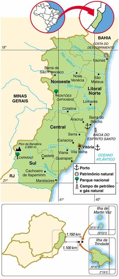 Espírito Santo | Mapas Geográficos do Espírito Santo