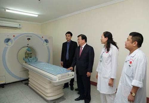 Bệnh viện được đầu tư nhiều máy móc, trang thiết bị y tế hiện đại