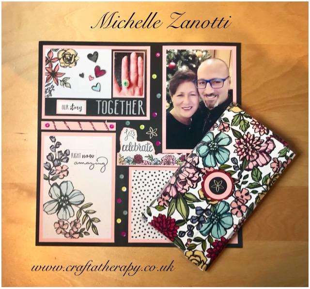 petal passion engagement scrapbook notebook midori uk scotland stampin' up!