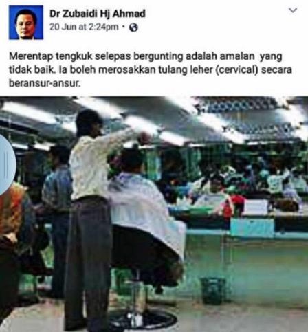 Nasihat Buat Anda Yang Suka Gunting Rambut Di Kedai Mamak