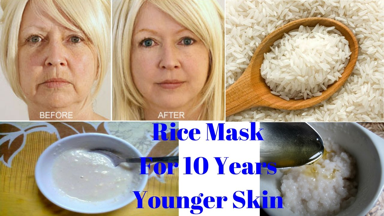 rice, facial, beauty