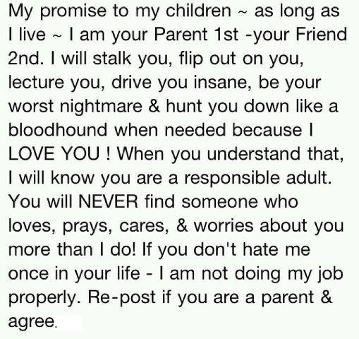 My promise to my children quote