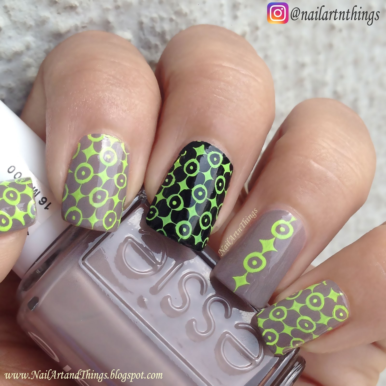 NailArt and Things: Essie Chinchilly: Stamping Nail Art