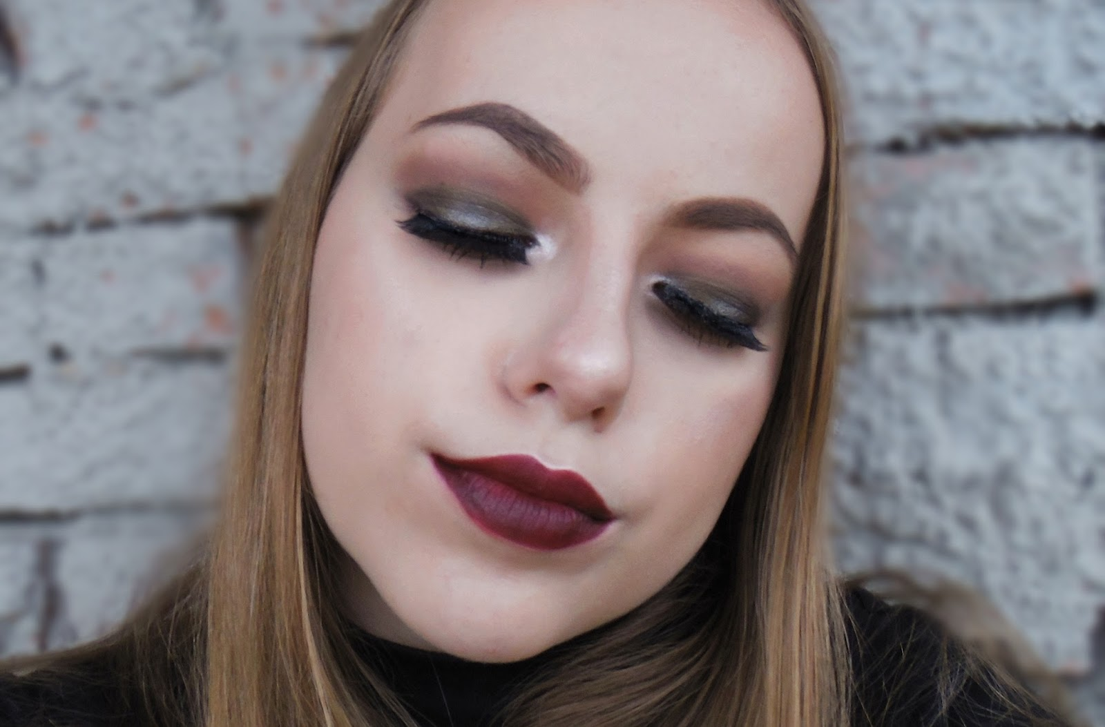 Fall makeup look! [ dark lip & neutral eyes ]