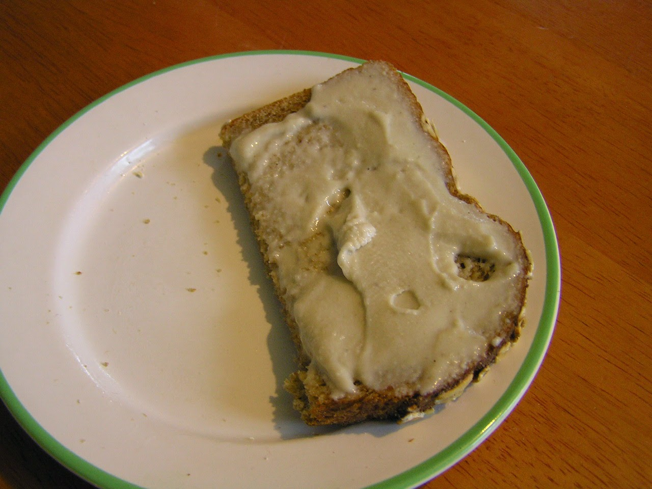cashew cream on toast