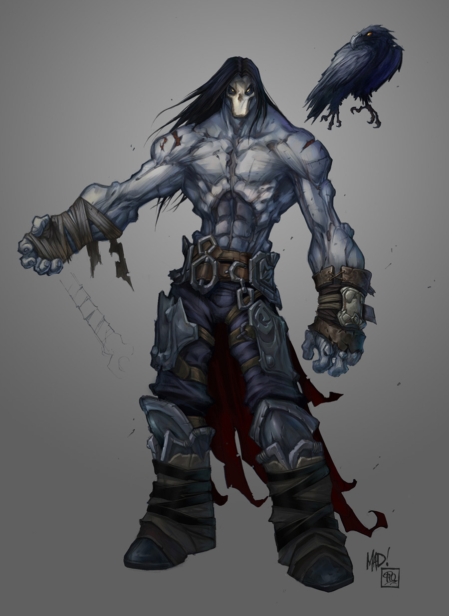 Joe Madureira ! Fansite: Darksiders II 'Death' Character ...