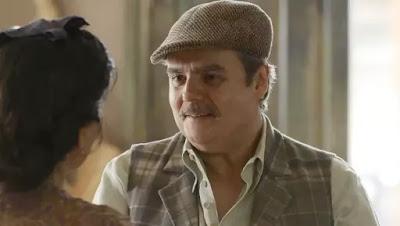 Afonso (Cássio Gabus Mendes) diz que esqueceu Shirley (Barbara Reis) em 'Éramos Seis'