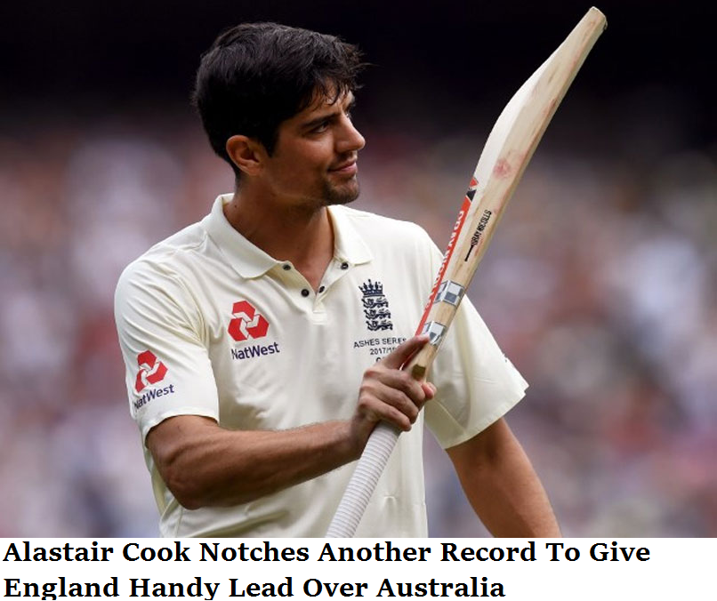 Alastair Cook Notches Another Record To Give England Handy Lead Over Australia