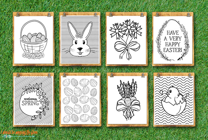 Eight Coloring Sheets