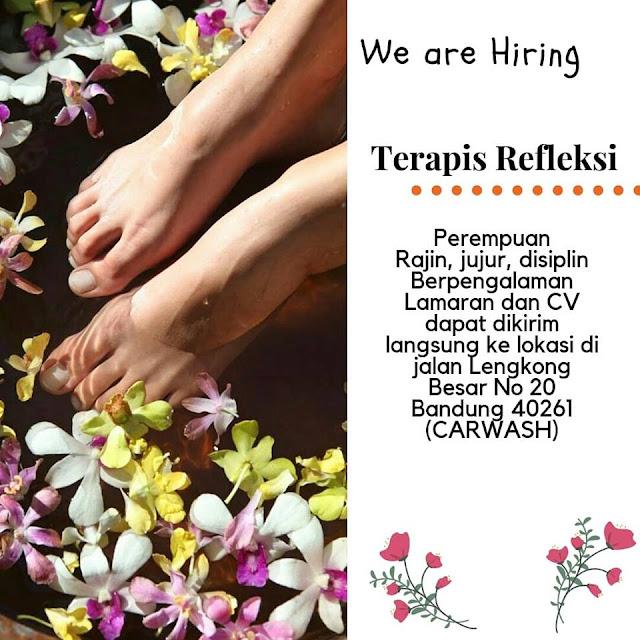 lowongan kerja terapis refleksi Bandung
