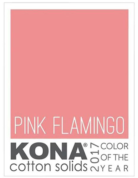 Kona Color of the Year 2017 ~ Pink Flamingo | © Red Pepper Quilts 2017