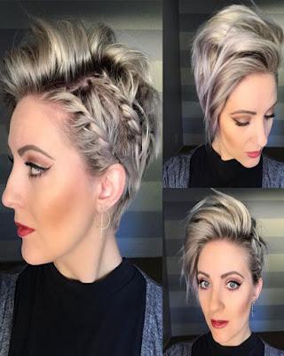 peinado con trenza de raíz mujer mayor