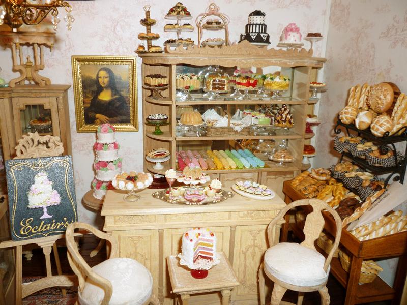 Items similar to Dollhouse Miniature - French Shabby Chic ...  |Miniature Bakeries