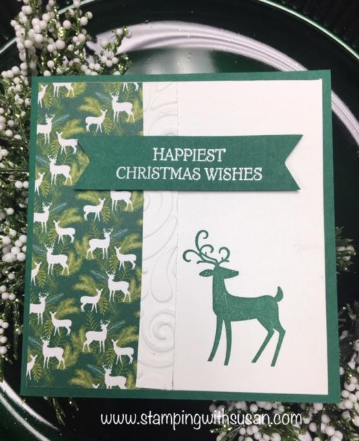 Stampin' Up!, Dashing Deer, Dashing Deer DSP, www.stampingwithsusan.com, Swirls & Curls Embossing Folder