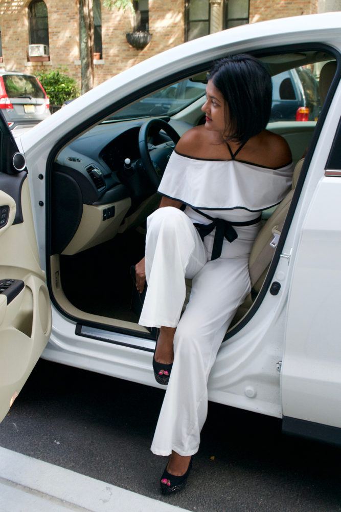 Make Me Chic white jumpsuit white party outfit