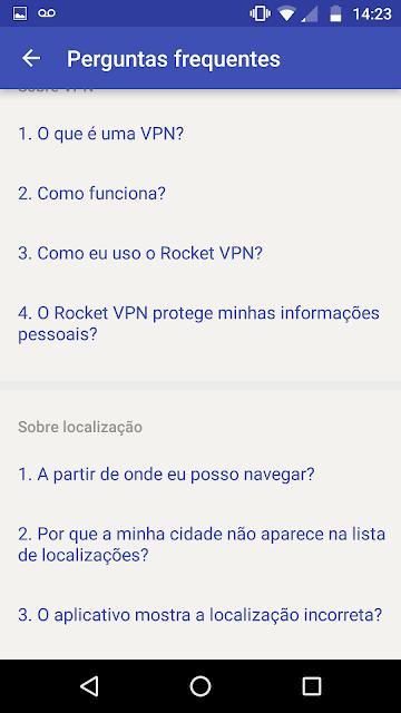 Usando Rocket VPN para desbloquear WhatsApp