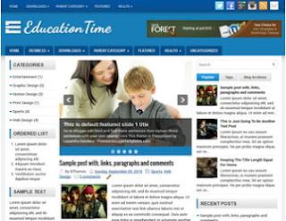 Responsive SEO Blogger Template untuk Sekolah Gratis Download