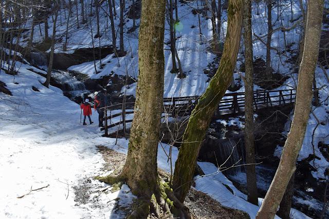 I ponti di legno per attraversare il torrente