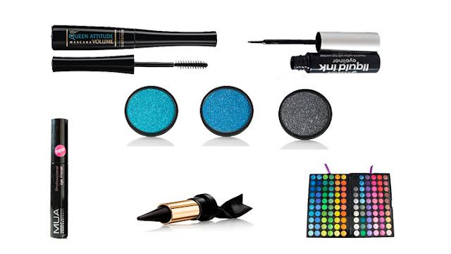 Productos utilizados | Blue night makeup. | Maquillaje de noche en tonos azules.