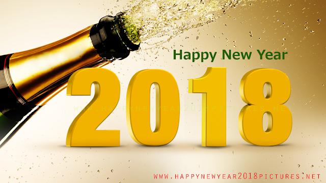 Happy New Year 2018 bottle