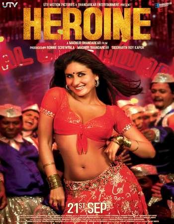 Poster Of Heroine 2012 Hindi 450MB BRRip 720p ESubs HEVC Watch Online Free Download Worldfree4u