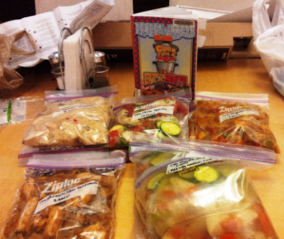 Bagging and labeling freezer meals
