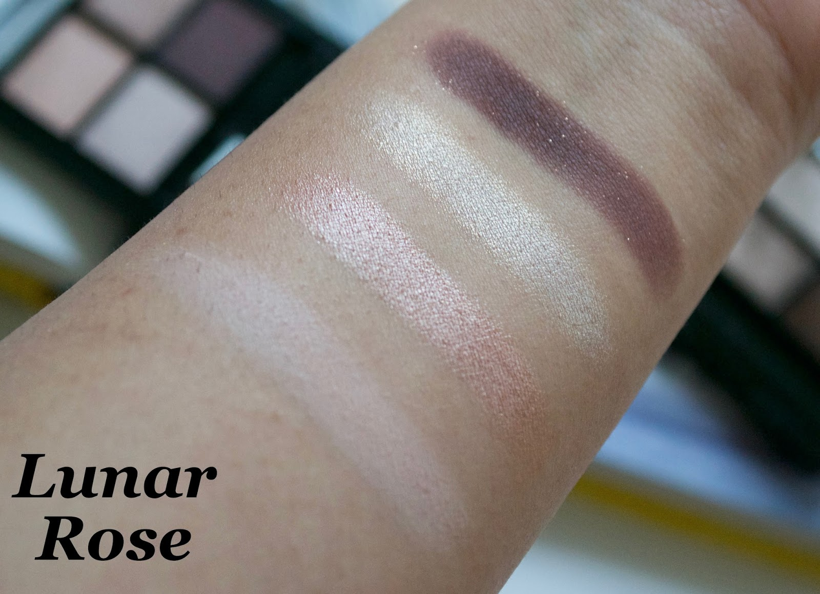 Fleur de Force Eyeshadow Quad Lunar Rose Swatch - Aspiring Londoner
