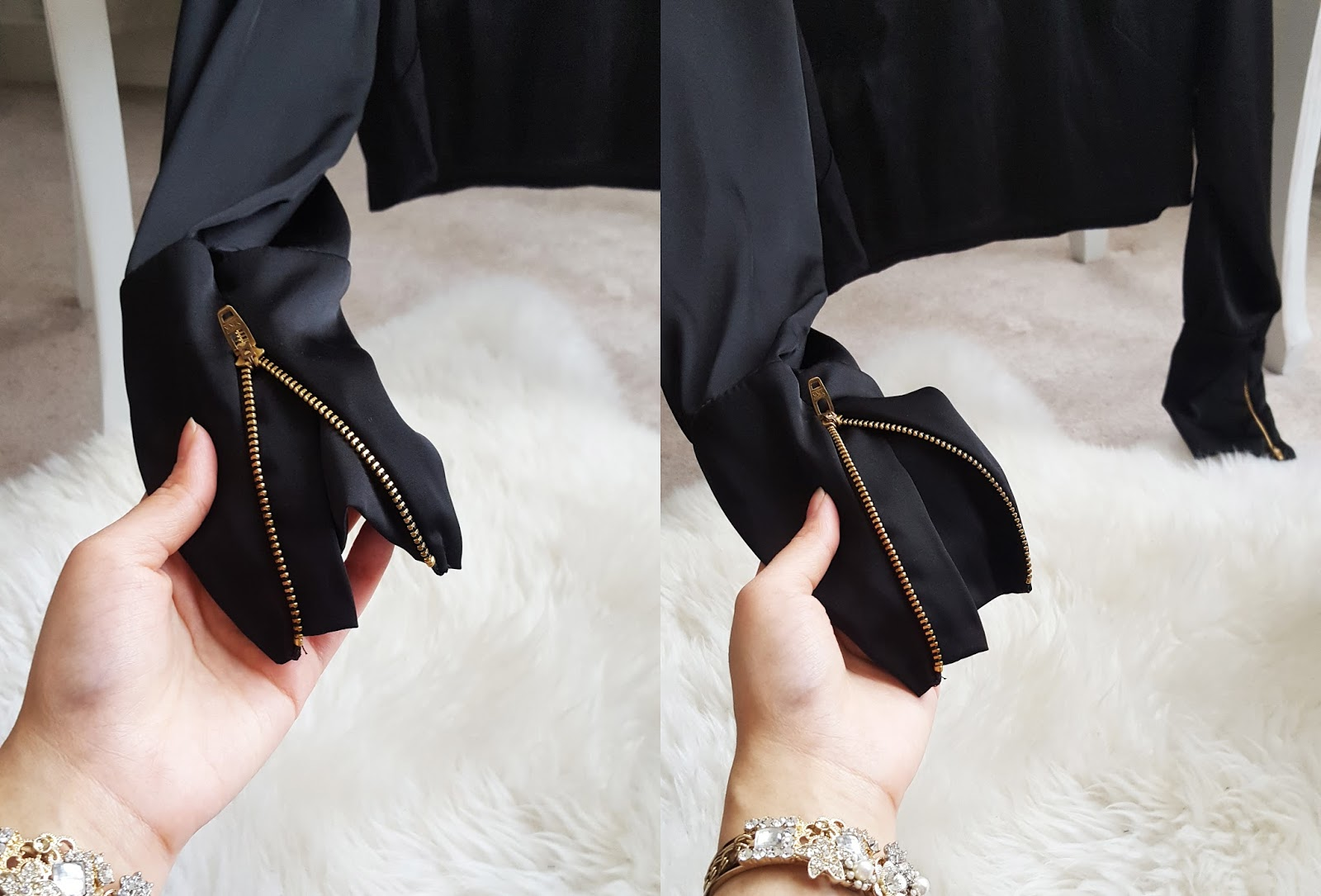 gold zips