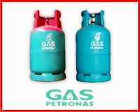 tong gas Petronas merah dan tong gas Petronas hijau