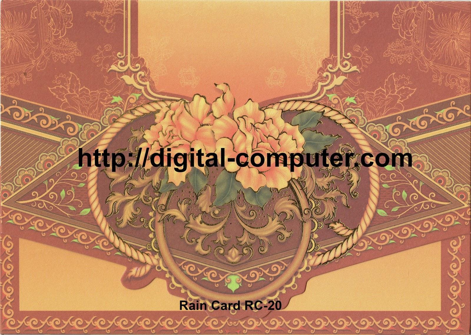 Undangan Softcover Rain Card RC-20
