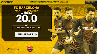 betfair supercuota Barcelona vs Leganes 7-4-2018