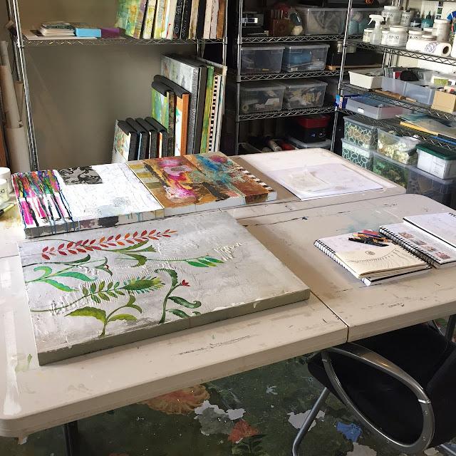 Pat Scheurich, Sketchbook Conversations, artists, inspiration, artist studio, work space, organization, My Giant Strawberry