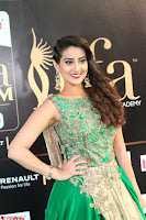 Manjusha in Beautiful Sleeveless Green Anarkali dress at IIFA Utsavam Awards 97.JPG