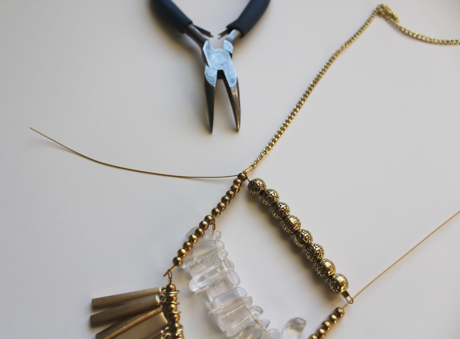 Gold Pendant Chain Necklace DIY - My Girlish Whims