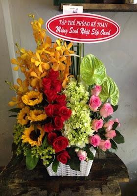hoa tặng sinh nhật nam giới