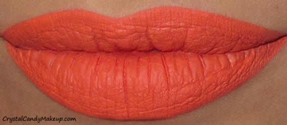 Anastasia Beverly Hills Matte Liquid Lipsticks Review Swatch Neon Coral
