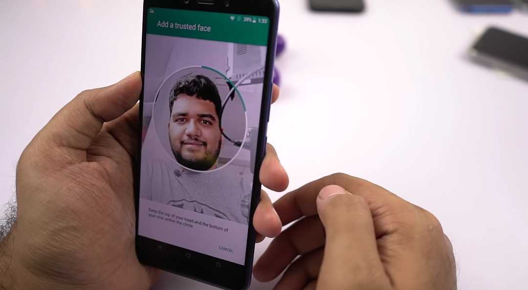 Google's Trusted Face Unlock On The Infinix Note 5 smart phone.