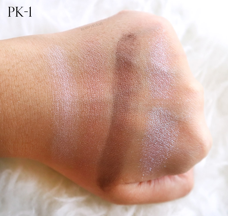 Kate Tokyo Metal Glamour Eyes Review and Swatches PK-1