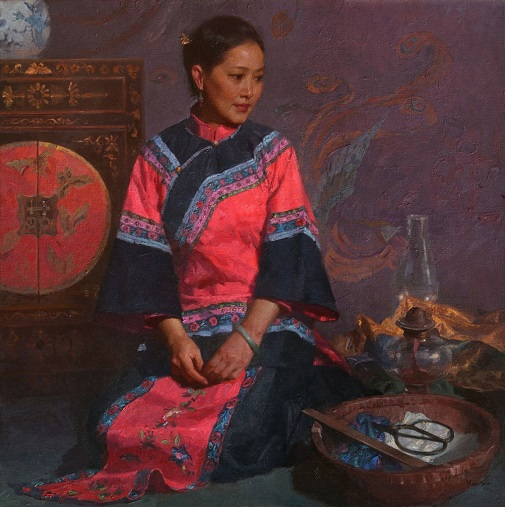 "by Mian Situ, ""The Heiress's Closet"" - oil on canvas 
