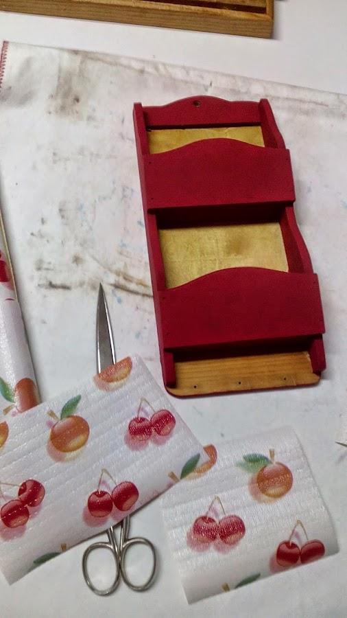 portacartas con pintura a la tiza