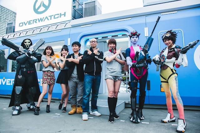 藝人方語昕、吳心緹、實況主老皮、Blizzard台港澳總經理Eddy及解婕翎於基地開啟當天共同號召英雄入陣。