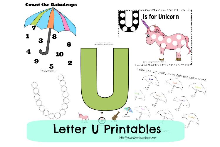 Letter U Toddler Free Printables