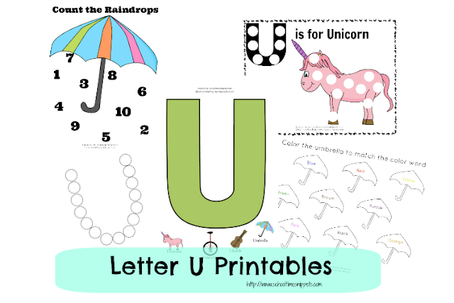 Letter U Toddler Free Printables