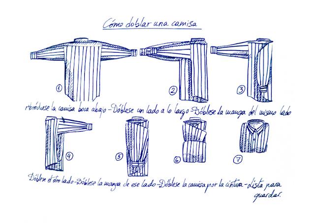 Cómo doblar una camisa de manga larga correctamente