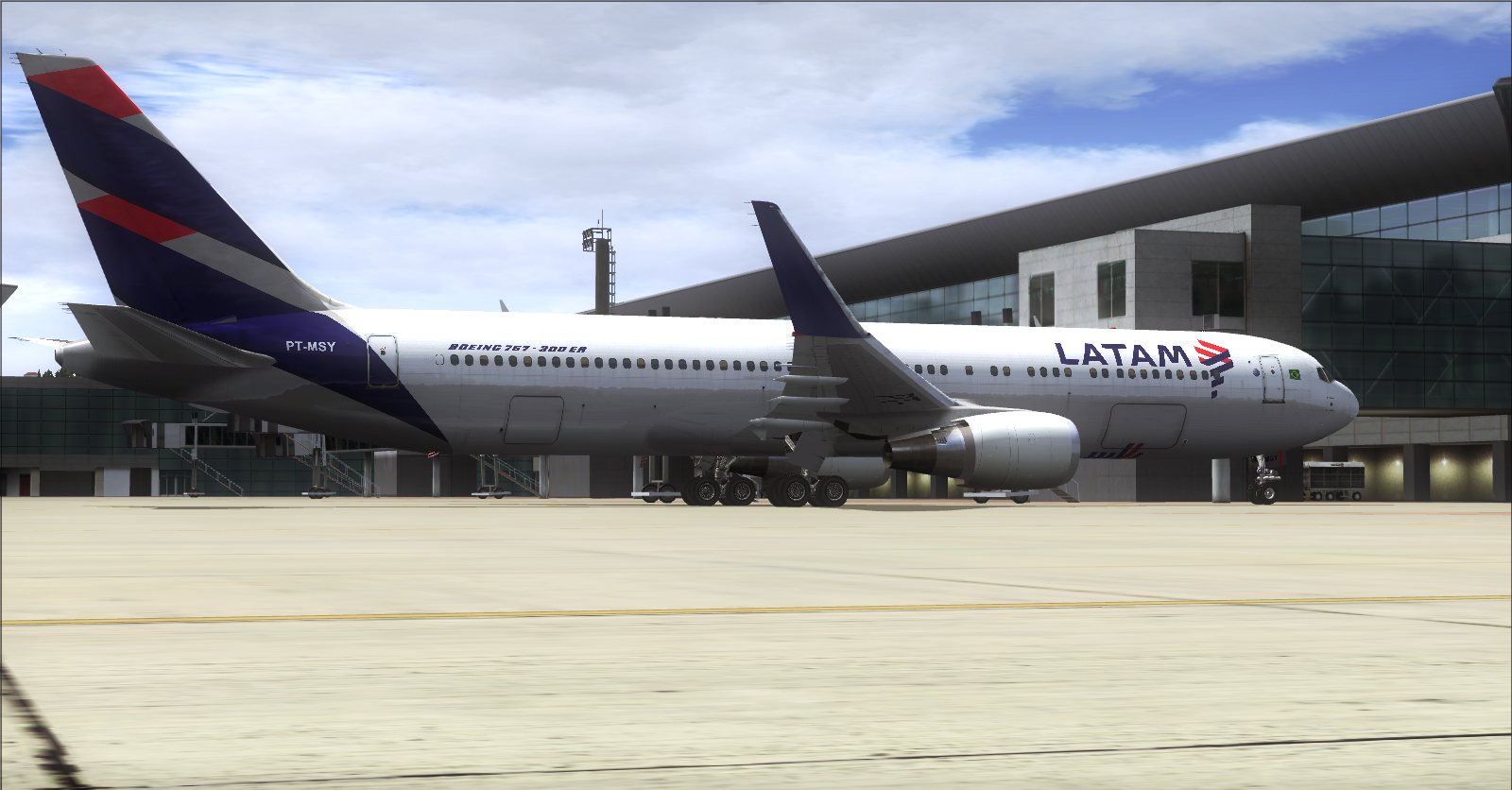 [FS2004] LATAM Airlines Boeing 767-300ER PT-MSY Level-D ...