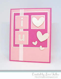I {heart} U card-designed by Lori Tecler/Inking Aloud-dies from Clear and Simple Stamps